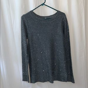Grey shimmering sweater